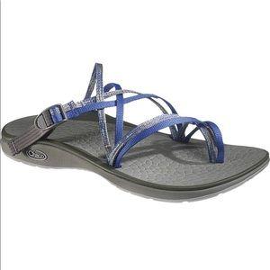 Chaco Slip On Sport Sandals Sleet Merged Bleu Sz 6